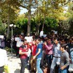 تجمع های وسیع دانشجویی/این تجمعات امروز هم ادامه دارد